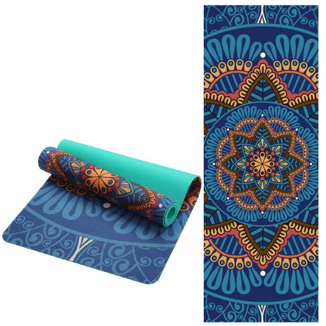 Anti-Slip Sport Mat with Floral Print