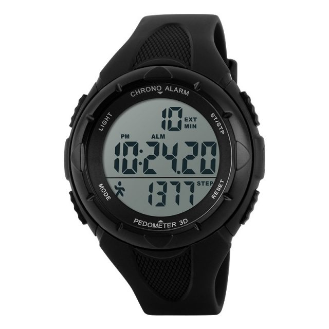 Unisex Waterproof Digital Watches with Pedometer