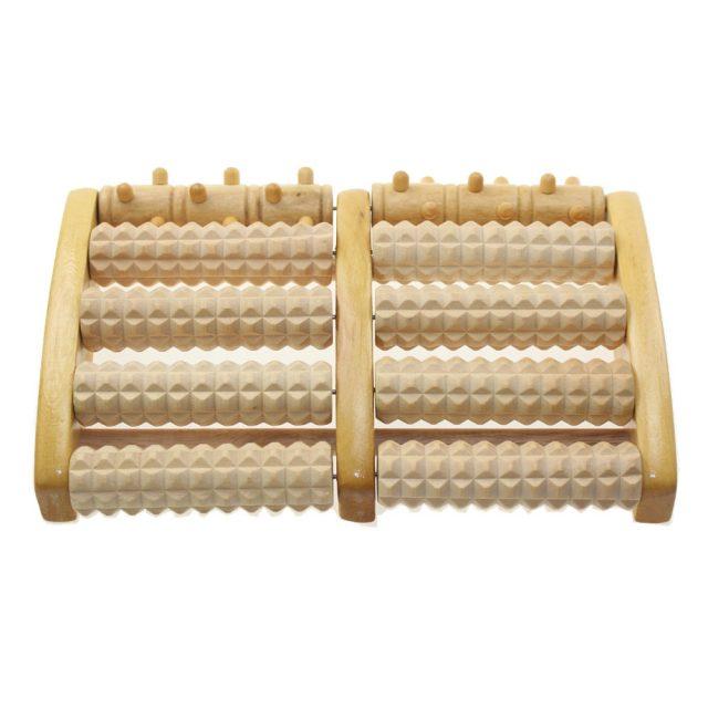 Wooden Foot Massage Roller Pad