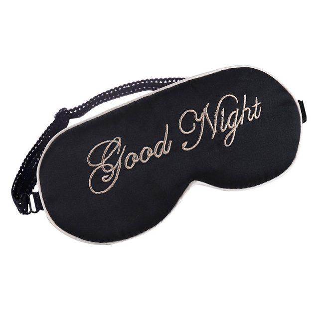 Eye Sleeping Mask With Embroidery
