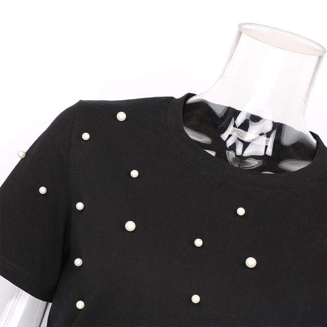 Women's Polka Dot Patterned T-Shirt