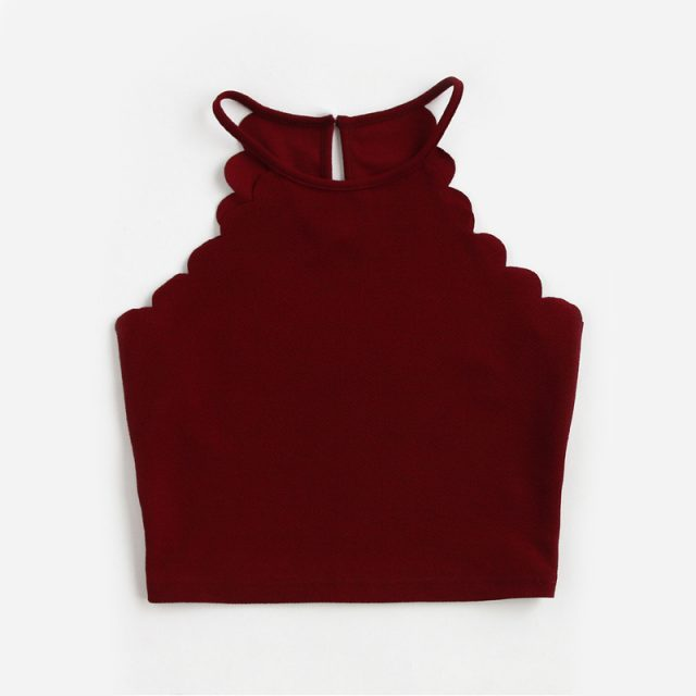 Women's Burgundy Crop Top