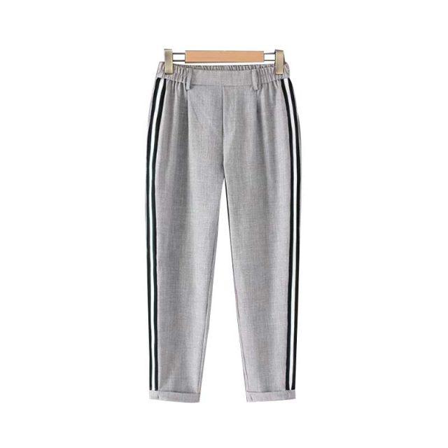 Women's Striped High Waist Pants