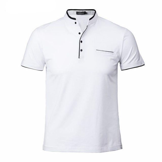 Men's Elegant Shirt with Mandarin Collar
