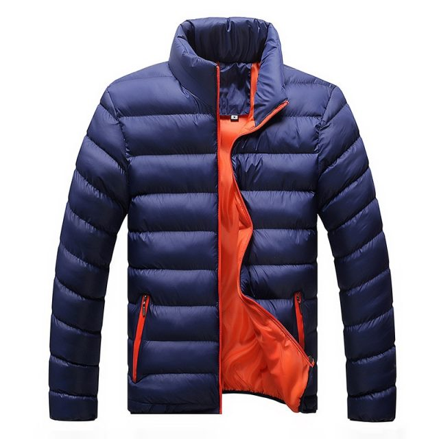 Men's Warm Jacket with Stand Collar