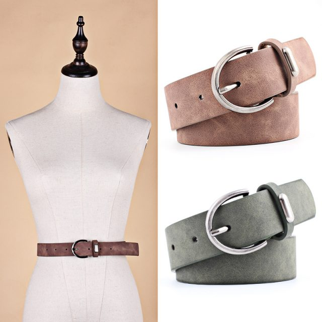 Women's Classic Style Leather Belt