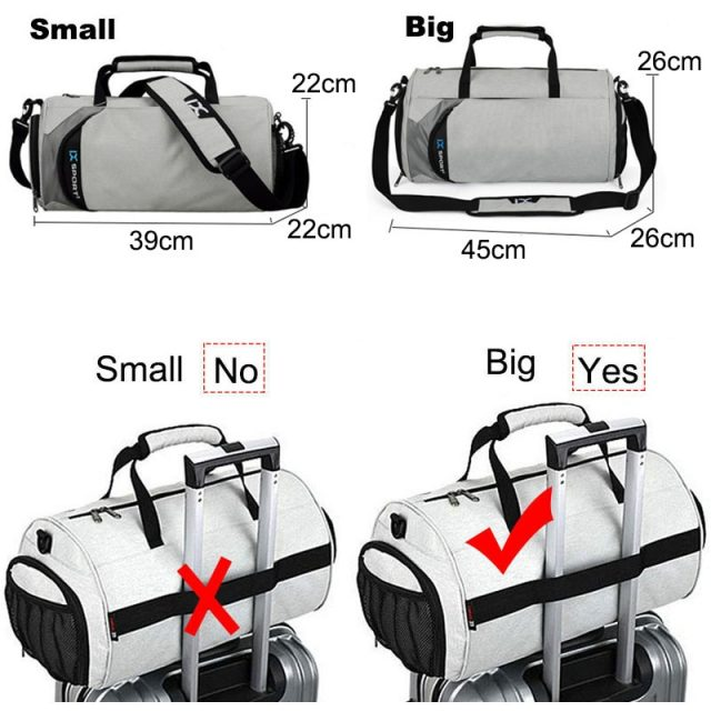 Men Gym Bags For Training Bag 2019 Tas Fitness Travel Sac De Sport Outdoor Sports Shoes Women Dry Wet Gymtas Yoga Bolsa XA103WA