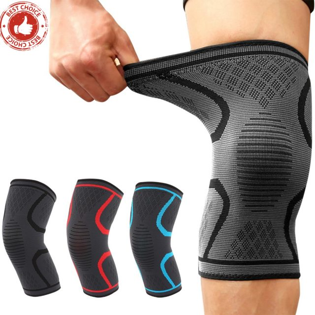 Knee Pads Fitness Running Cycling Knee Protector Basketball Football Sport Safety Kneepad Nylon Elastic Knee Brace Support 1PCS